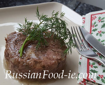 Holodets Russian Meat Jelly / Aspic recipe