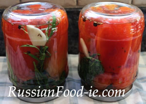 Russian pickled canned tomatoes recipe