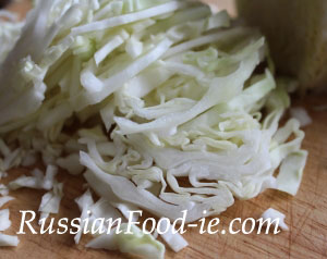 Russian cole slaw (cabbage salad) recipe