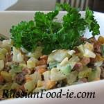 Russian potato salad Olivier recipe