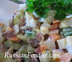 Russian potato salad (Olivier) recipe