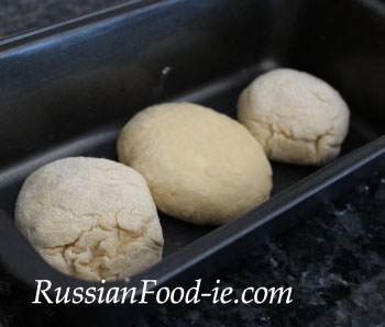 Yeast dough buns. Quick and simple recipe