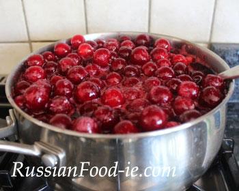 Russian sour cherry preserve