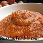Russian marrow (squash) sauce (spread, puree). Kabachkovaya ikra