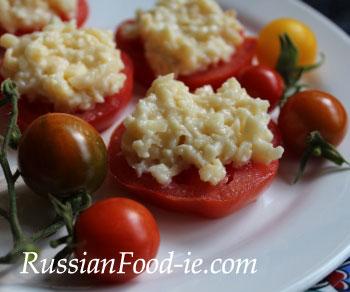 Tomato, cheese and garlic starter recipe
