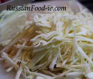 White cabbage is another widely used ingredient in Russian cuisine